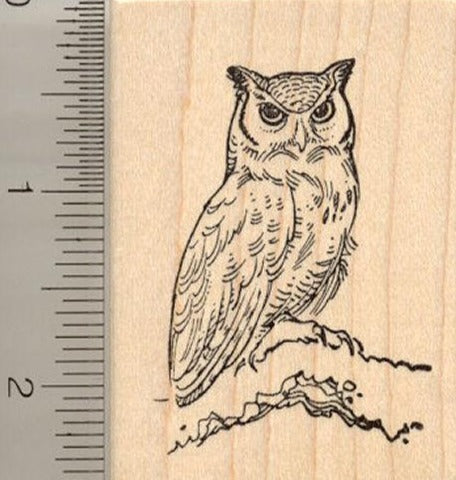Great Horned Owl Rubber Stamp