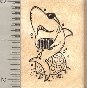 Card Shark Rubber Stamp