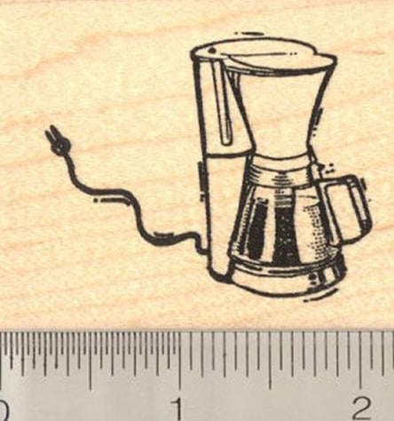 Coffee Pot Rubber Stamp