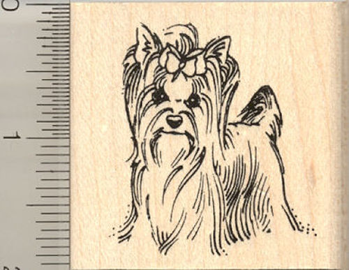 Yorkie Rubber Stamp