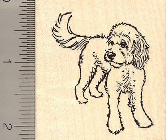 Cute Cockapoo Rubber Stamp