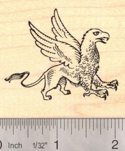Large Griffin Rubber Stamp