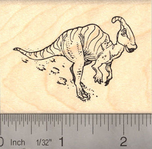 Duck-billed Parasaurolophus dinosaur Rubber