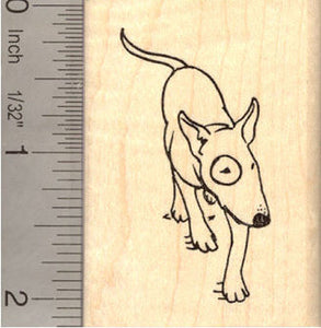 Bull Terrier Dog Rubber Stamp