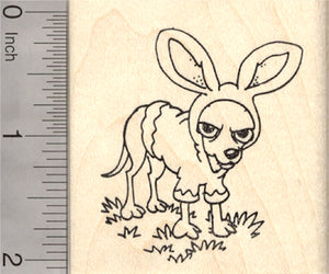Easter Chihuahua Rubber Stamp