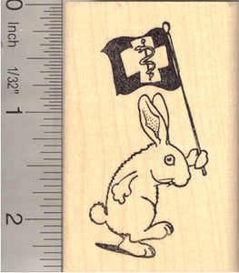 Veterinarian Appreciation Bunny Rabbit Rubber Stamp