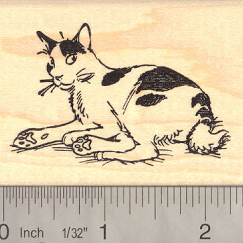 American Bobtail Cat Rubber Stamp