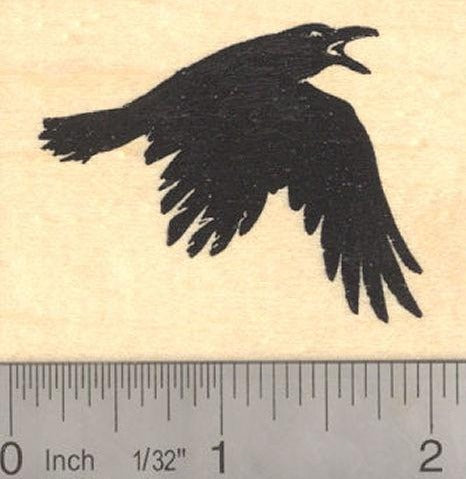 Raven Rubber Stamp Black Crow