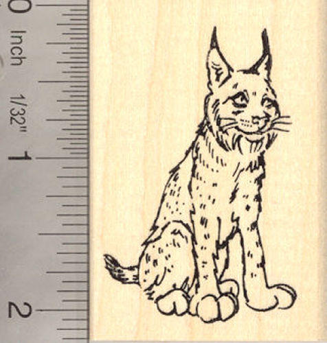 Lynx Rubber Stamp Bobcat Wildcat Wildlife