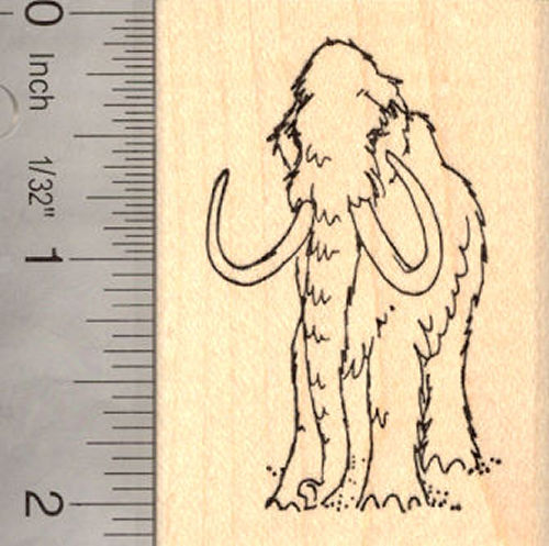 Woolly Mammoth Rubber Stamp, Extinct Wildlife