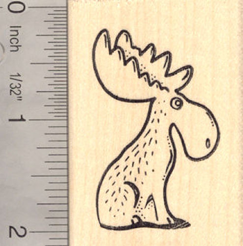 Chocolate Moose Rubber Stamp