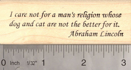 Abraham Lincoln Animal Welfare Word Rubber Stamp