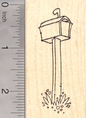Mail box Rubber Stamp