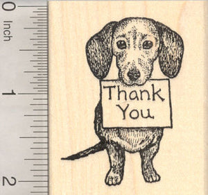 Dog Thank You Rubber Stamp, Beagle