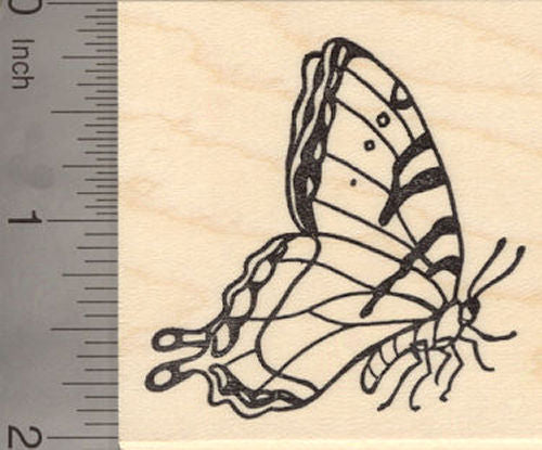 Tiger Swallowtail Butterfly Rubber Stamp