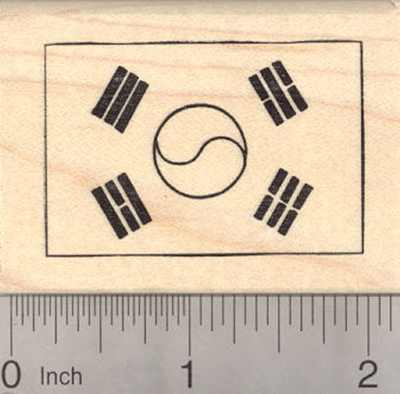 Flag of South Korea Rubber Stamp, Taegeukgi
