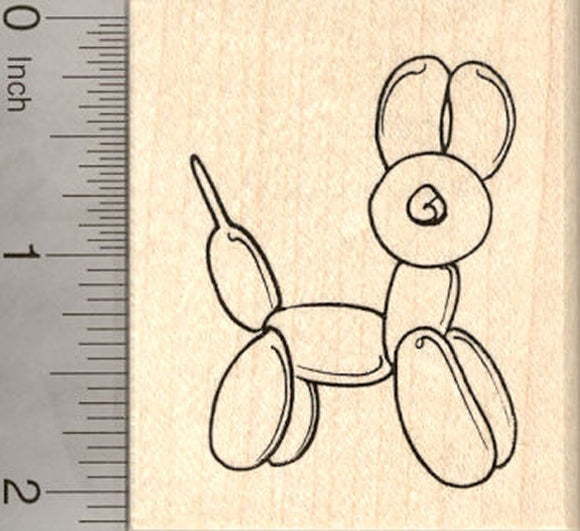 Balloon Animal Cat Rubber Stamp
