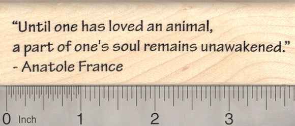 Animal Lover's Quote Rubber Stamp, Anatole France