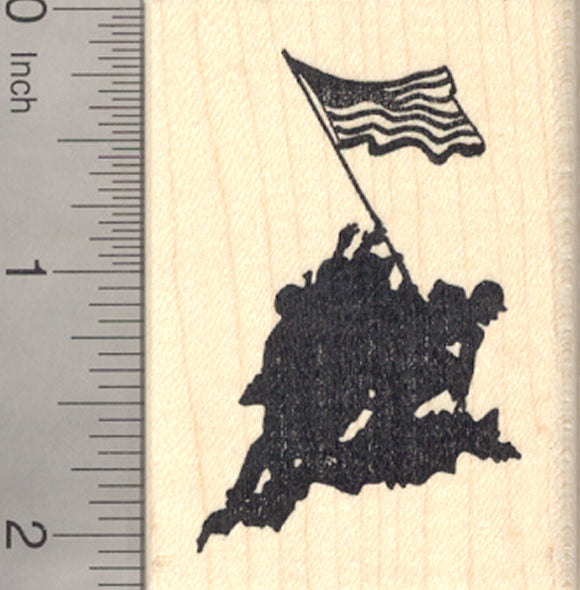 Iwo Jima Flag Raising Rubber Stamp, Memorial Day, United States of America