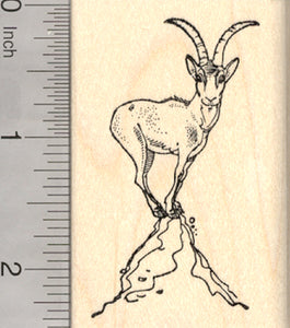 Gazelle Rubber Stamp, Antelope Climbing Rock