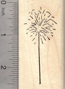 Sparkler Rubber Stamp, 4th of July Fireworks, Diwali, Guy Fawkes