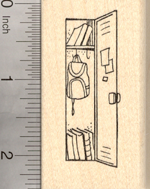 School Locker Rubber Stamp