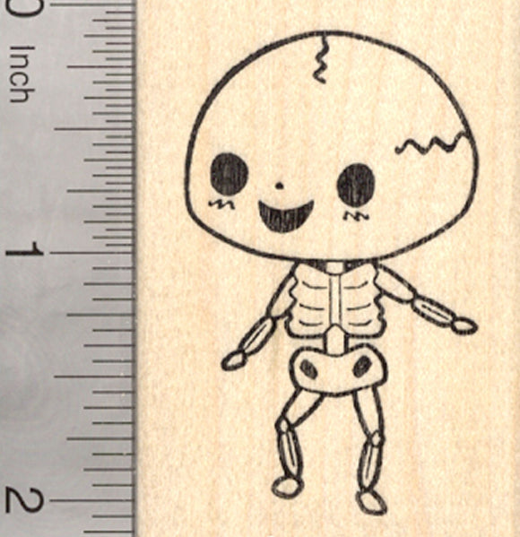 Halloween Skeleton Rubber Stamp, Day of the dead
