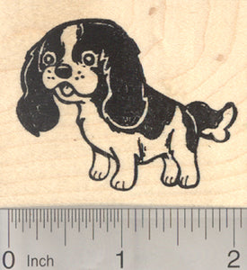 Cavalier King Charles Spaniel Rubber Stamp, Dog