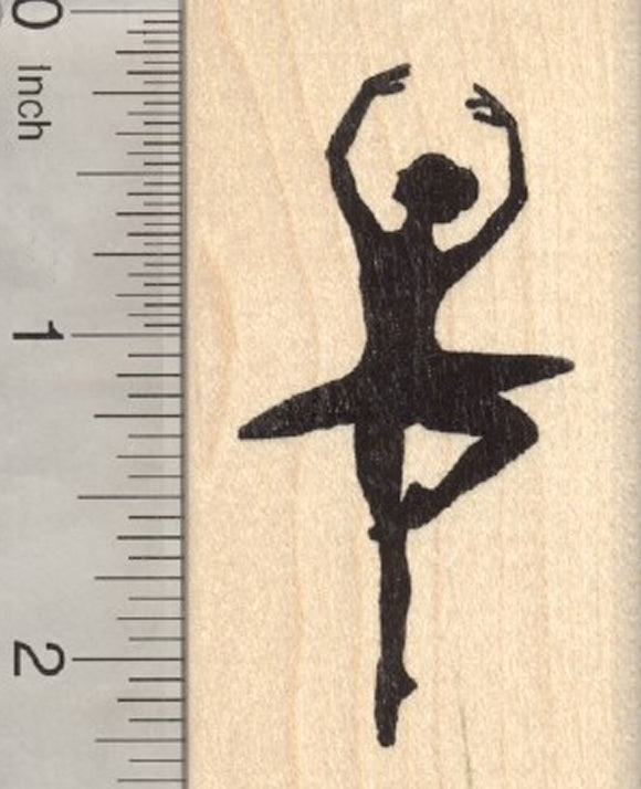 Ballerina Rubber Stamp, Ballet Dancer