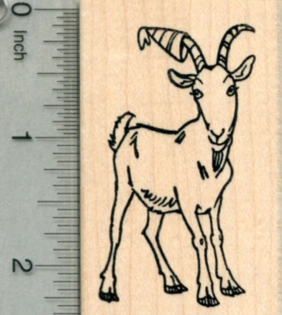 Birthday Goat Rubber Stamp, in Party Hat