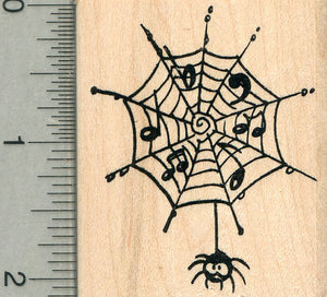 Musical Spiderweb Rubber Stamp, Music Series