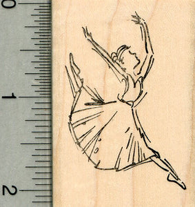 Ballet Dancer Rubber Stamp