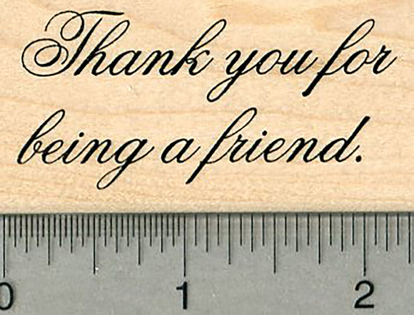 Thank you Rubber Stamp, Friendship Series