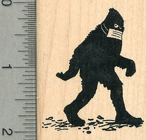 Bigfoot Rubber Stamp, Mask Series