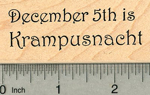 Krampusnacht Rubber Stamp, December 5th