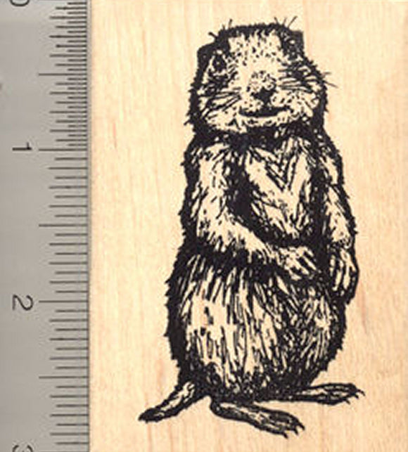 Prairie Dog Rubber Stamp, Large