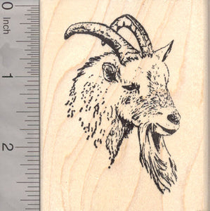 Goat Face Rubber Stamp