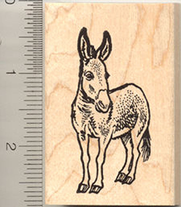 Donkey Rubber Stamp - Wood Mounted