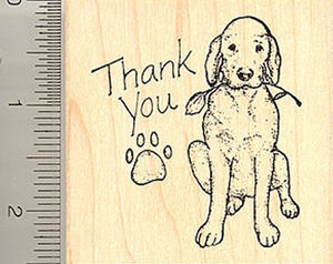 Thank You Dog Rubber Stamp