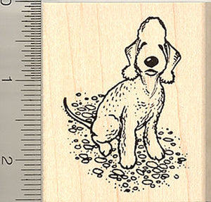 Bedlington Terrier Rubber Stamp