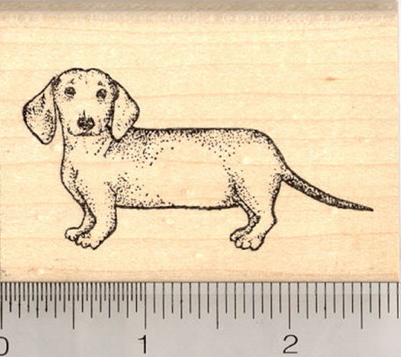 Dachshund Rubber Stamp, Wiener Dog