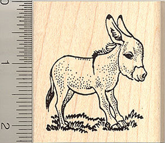 Miniature Donkey Rubber Stamp