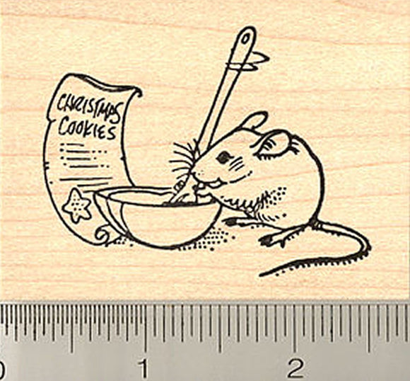 Not a Creature Was Stirring, Except for This Mouse Christmas Rubber Stamp