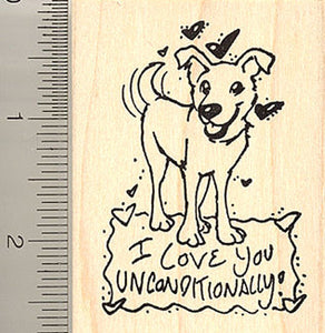 Dog Valentine Rubber Stamp