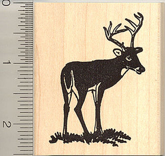 Buck Deer Rubber Stamp