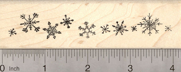 Snowflake Rubber Stamp, Snow Flake Cluster, Holiday Season
