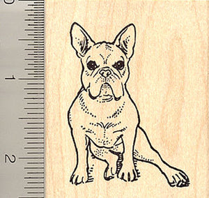 French Bulldog Rubber Stamp
