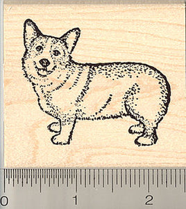 Pembroke Welsh Corgi Dog Rubber Stamp