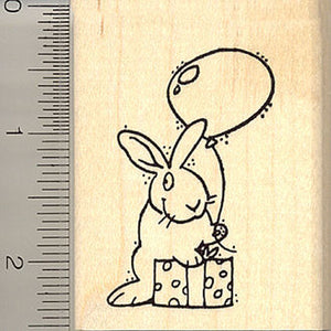 Birthday Bunny Rubber Stamp