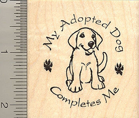 Adopted Dog Saying Rubber Stamp